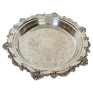 Vintage Silver Plated Shell Design Serving Plate