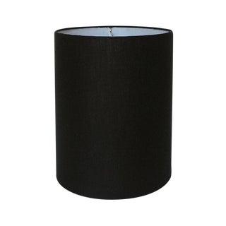 Black Linen Drum Lamp Shade