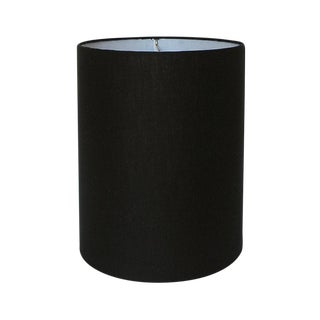 Black Linen Drum Lamp Shade