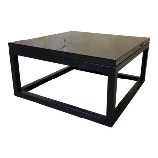 Custom Black Lacquer Coffee Table
