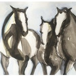 Image of Three Running Horses Painting
