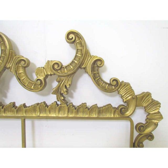 Image of Hollywood Regency Gilt Metal King Headboard