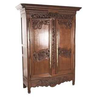 French Marriage Armoire