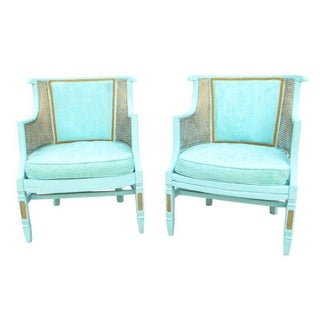 Rehabbed Bamboo & Cane Chairs - A Pair