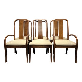 Thomasville Contemporary Oak Dining Chairs - Set of 6