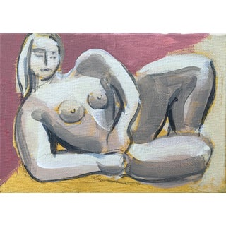 Reclining Woman in Pink