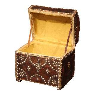 18th Century French Leather Jewelry Box