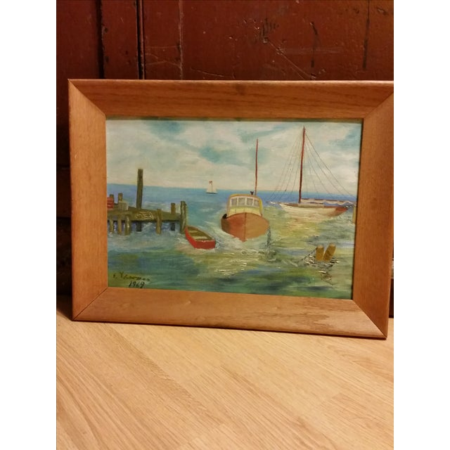 Seascape, 1969 Signed Acrylic on Canvas Board - Image 2 of 6
