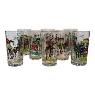Libbey Gay Nineties Glasses- Set of 8