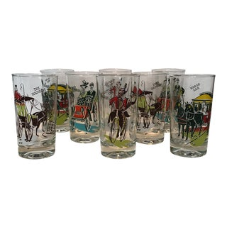 Libbey Gay Nineties Glasses- Set of 8