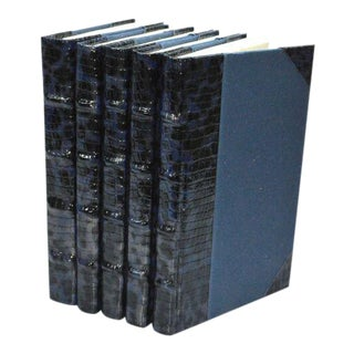 Exotic Collection Leopard Navy Books - Set of 5