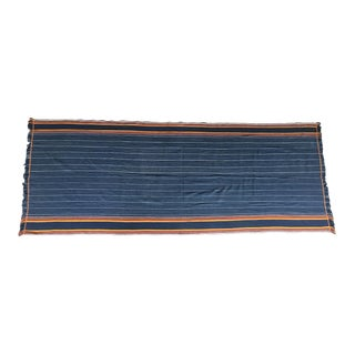 Vintage Indigo Striped Blanket