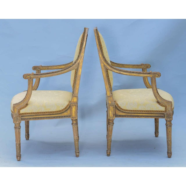 Pair of Early 19th Century Louis XVI Fauteuils - Image 3 of 10