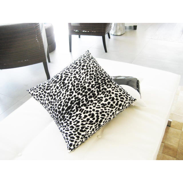 Black & White Leopard Print Pillow - Image 4 of 4