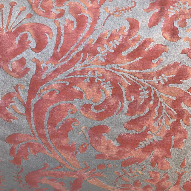 Fortuny Silvery Gold Textile Pillows - A Pair - Image 3 of 5