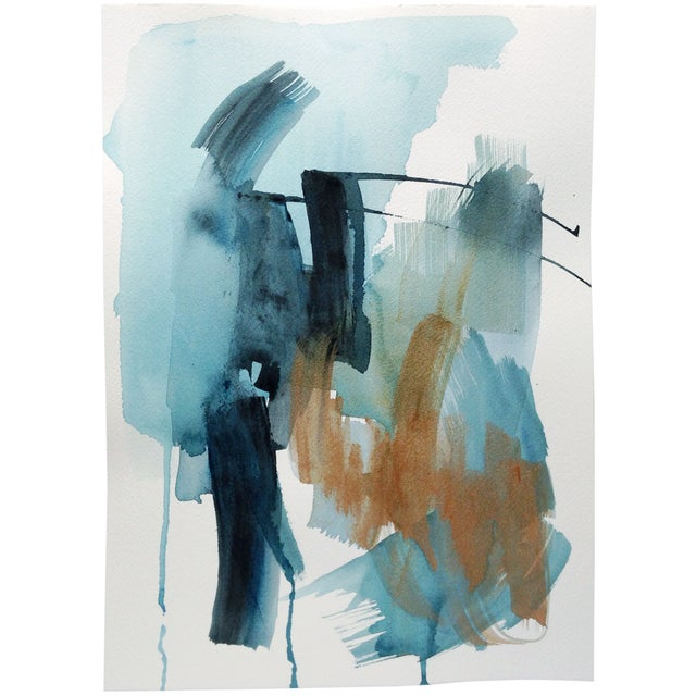 """Dani Schafer """"We Go Between V"""" Abstract Painting - Image 1 of 3"""