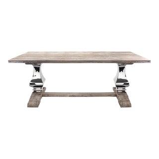 Reclaimed Distressed Wood & Metal Dining Room Table