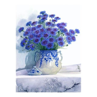 """Cornflowers in Flow-Blue Jar"" Giclée"