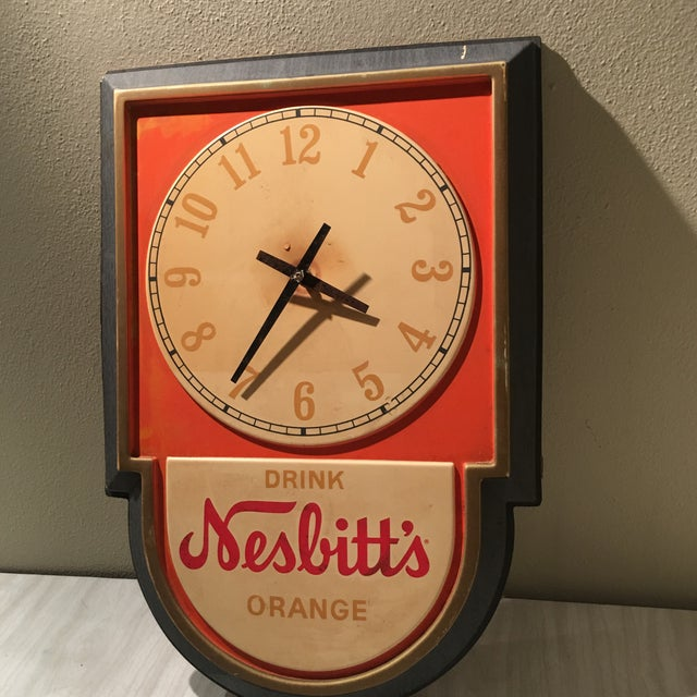 Vintage Nesbitts Orange Soda Clock - Image 3 of 7