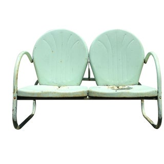 Mid-Century American Clamshell Lawn Bench