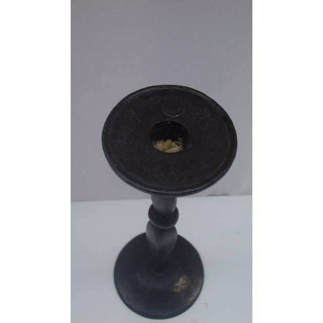 Antique Primitive Cast Iron Candlestick - Image 7 of 7