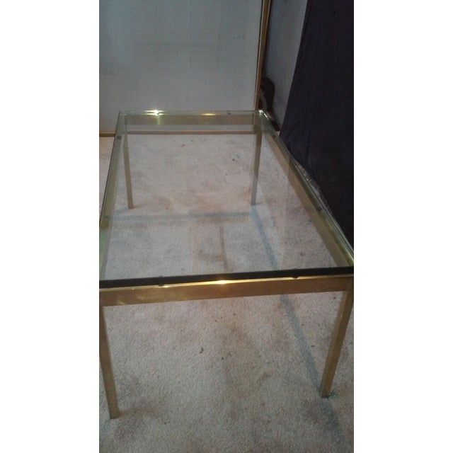 Ward Bennett Brass & Glass Coffee Table - Image 4 of 5