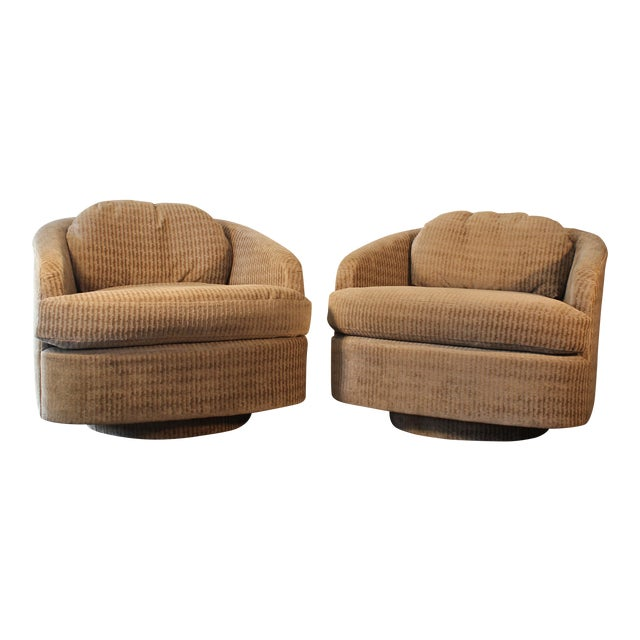 Milo Baughman for Thayer Coggin Swivel Lounge Chairs- A Pair - Image 1 of 11