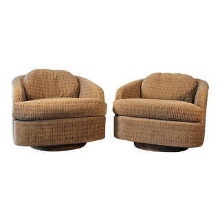 Milo Baughman for Thayer Coggin Swivel Lounge Chairs- A Pair