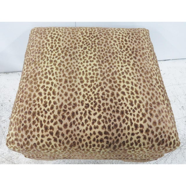 Leopard Upholstered Ottomans - A Pair - Image 4 of 5