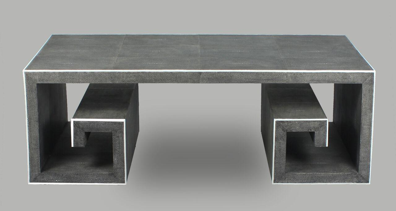 Sarreid LTD Hepburn Greek Key Coffee Table   Image 4 Of 6
