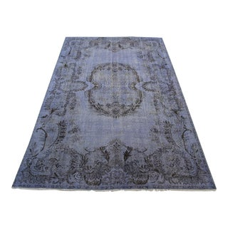 "Lilac Turkish Overdied Rug - 6'3"" X 9'9"""