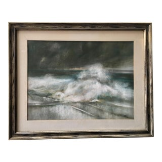 Vintage Seascape Acrylic Painting