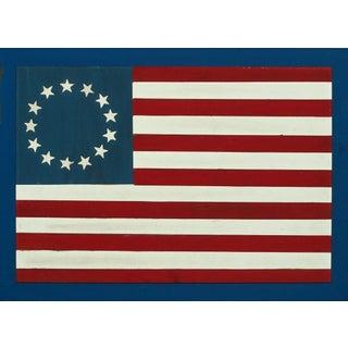 Hand Painted 13 Star Wood Slat Flag
