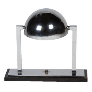 Chrome Desk Lamp by Attributed to Jacques Adnet, French, circa 1930
