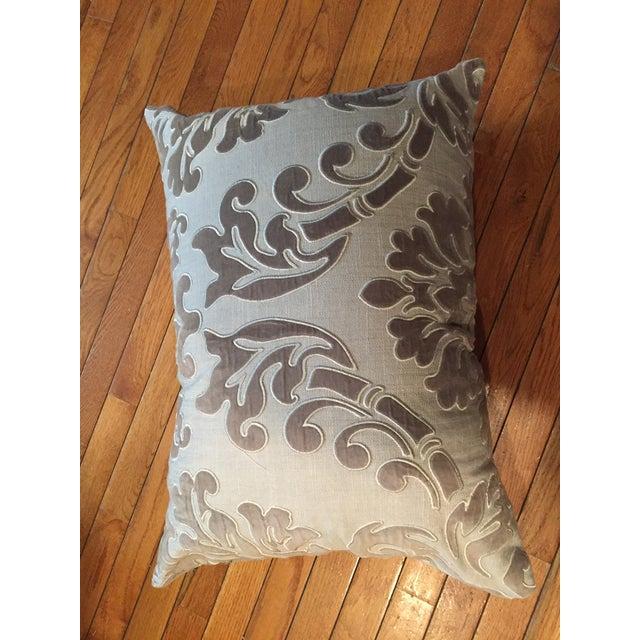Linen and Velvet Meet Each Other Pillows - A Pair - Image 2 of 8