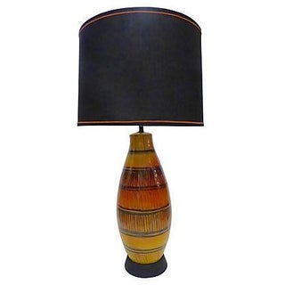 Mid-Century Table Lamp With Custom Shade