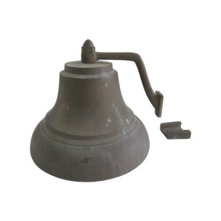 Old Huge Bronze Ship Maritime Bell Wall Mount