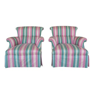 Hickory Chair Hollywood Regency Club Chairs - A Pair