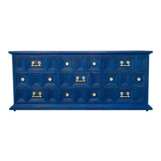 Mid Century Windsor Blue Oak Credenza/Dresser