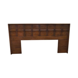 Mid Century Vintage Walnut King Size Headboard