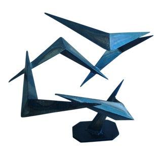 Mid-Century Abstract Steel Sculpture