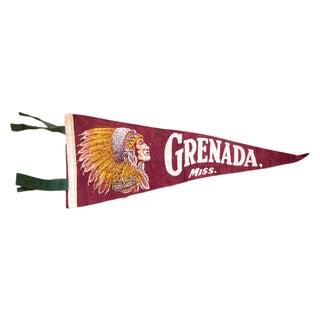 Vintage Grenada Mississippi Felt Flag