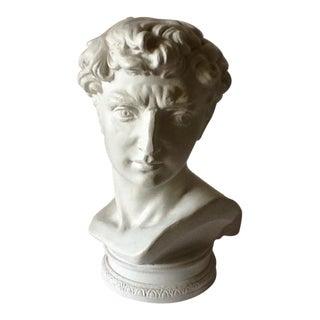 Vintage Male Sculptural Ceramic Bust