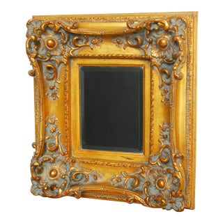 Hand-Carved Gilt Wood Wall Mirror