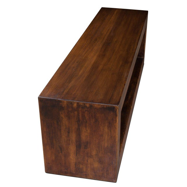 Sarreid LTD Modern Pine Wood Console - Image 3 of 6