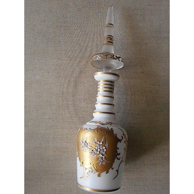 Image of Vintage Cased Glass & 24K Gold Trim Decanter