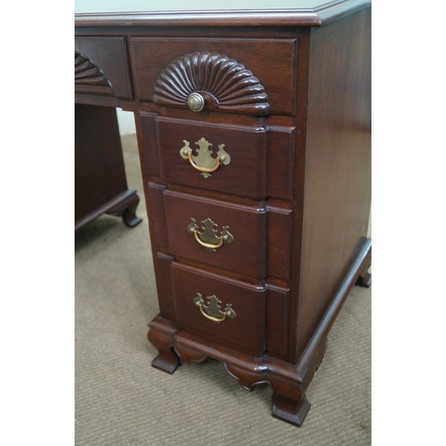 Vintage Mahogany Chippendale Style Writing Desk - Image 9 of 10