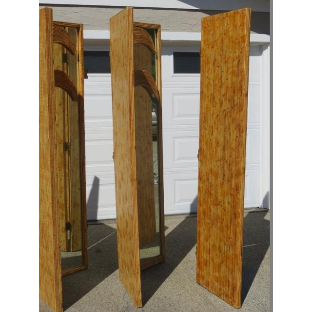 Hinged Room Dividers : Figural bamboo hinged room dividers panels sets of