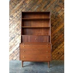 Image of Vintage Kipp Stewart Walnut Secretary & Hutch