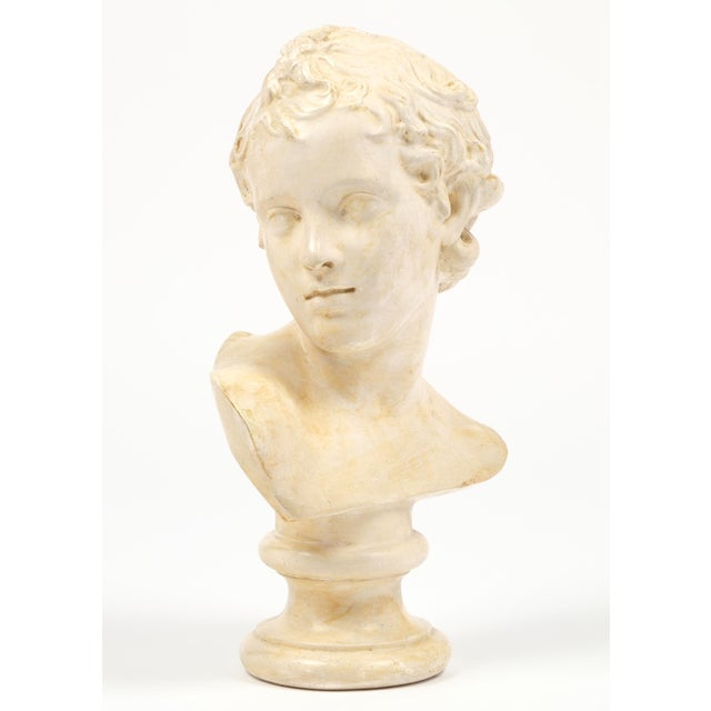 Antique French Plaster Child Bust - Image 2 of 9